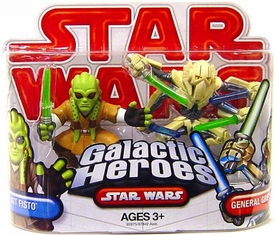 Star Wars 2009 Galactic Heroes Mini Figure 2-Pack Kit Fisto & General Grievous
