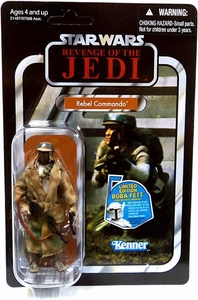 Star Wars 2010 Vintage Collection Action Figure #26 Rebel Commando [African American Variant]