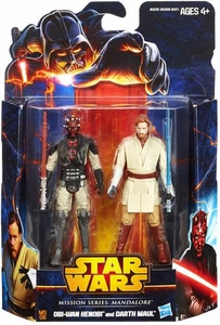 Star Wars 2013 Mission Series Action Figure 2-Pack Mandalore [Obi-Wan Kenobi & Darth Maul] New!