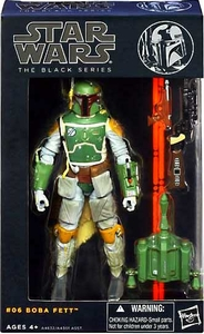 Star Wars Black 6 Inch Series 2 Action Figure Boba Fett New!