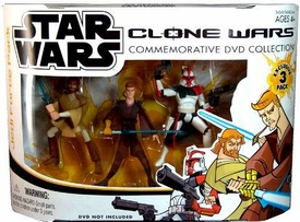 Star Wars Clone Wars Cartoon Network Exclusive Action Figure 3-Pack Clone Arc Trooper, Obi-Wan Kenobi & Anakin Skywalker