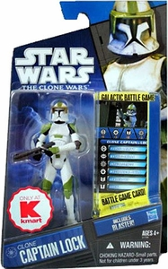 Star Wars Clone Wars Exclusive Action Figure Clone Captain Lock [Includes Blaster!]