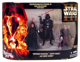 Star Wars Commemorative Episode III DVD Collection 3-Pack Emperor Palpatine, Darth Vader & Count Dooku