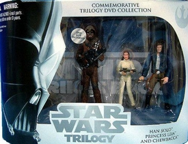 Star Wars Original Trilogy Exclusive Commemorative DVD Collection Action Figure 3-Pack Empire Strikes Back [Han Solo, Princess Leia, & Chewbacca]