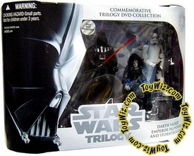 Star Wars Original Trilogy Exclusive Commemorative DVD Collection Action Figure 3-Pack Return of the Jedi with Darth Vader, Emperor Palpatine & Stormtrooper