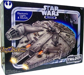 Star Wars Original Trilogy Millennium Falcon with Electronic Lights and SoundsHard to Find!