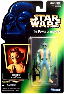 Star Wars Power of the Force Hologram Card Action Figure  Greedo [Blaster Pistol]