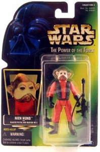 Star Wars Power of the Force Hologram Card Action Figure Nien Nunb [Blaster Pistol & Blaster Rifle]