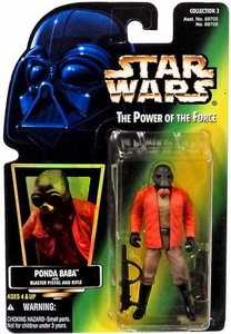 Star Wars POTF2 Power of the Force Hologram Card Ponda Baba w/ Blaster Pistol and Rifle