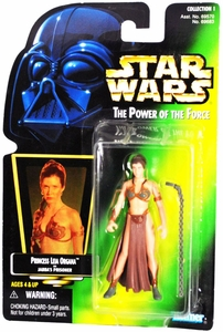 Star Wars Power of the Force Hologram Card Action Figure  Princess Leia Organa [Jabba's Prisoner]