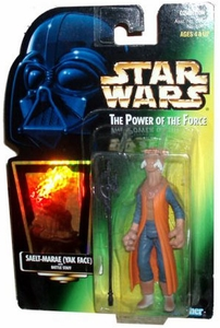 Star Wars Power of the Force Hologram Card Action Figure Saelt-Marae (Yak Face) [Battle Staff]