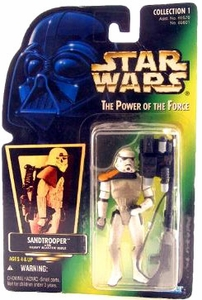 Star Wars Power of the Force Hologram Card Action Figure Sandtrooper [Heavy Blaster]