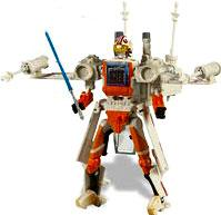 Star Wars Saga 2007 Transformers Action Figure Luke Skywalker to X-Wing Fighter