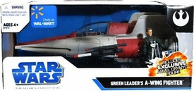 Star Wars Saga 2008 The Legacy Collection Exclusive Green Leader's A-Wing Fighter