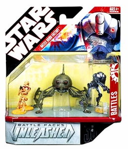 Star Wars Saga 2008 Unleashed Battle Figure 4-Pack Battle Droids