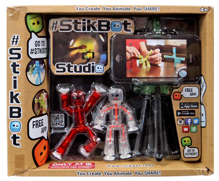 Stikbot Studio Exclusive Red Figure 3 Inch Zing