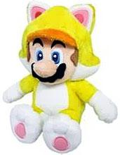 Super Mario 10 Inch Plush Cat Mario New!