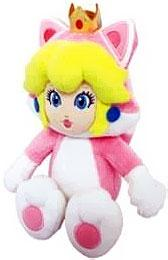 Super Mario 10 Inch Plush Cat Peach New!