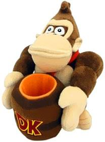 Super Mario 8 Inch Plush Donkey Kong & Barrel Pre-Order ships July