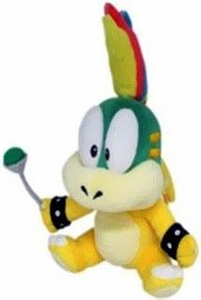 Super Mario 8 Inch Plush Lemmy Koopa New!