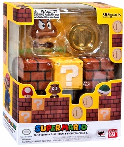 Super Mario Brothers S.H. Figuarts Action Figure Diroama Play Set A New!
