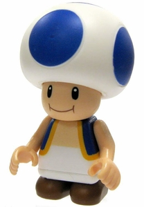 Super Mario K'NEX LOOSE Mini Figure Blue Toad