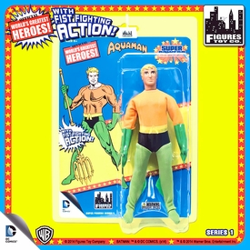 Super Powers Retro 8 Inch Series 1 Action Figures Aquaman Pre-Order ships October