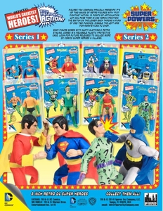 Super Powers Retro 8 Inch Series 2 Set of 4 Action Figures [Batman, Robin, Joker & Riddler] Pre-Order ships July