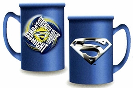 Superman Returns Movie Ceramic Relief Mug Blue