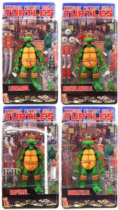 Teenage Mutant Ninja Turtles Set of 4 NECA Comic Style Action Figures
