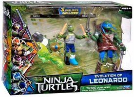 Teenage Mutant Ninja Turtles TMNT 2014 Movie Action Figure 2-Pack Evolution of Leonardo