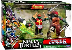 Teenage Mutant Ninja Turtles TMNT 2014 Movie Action Figure 2-Pack Evolution of Raphael