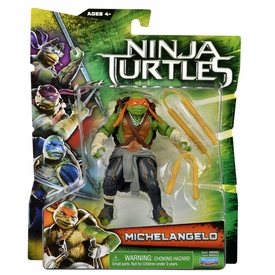 Teenage Mutant Ninja Turtles TMNT 2014 Movie Basic Action Figure Michelangelo New!
