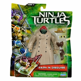 Teenage Mutant Ninja Turtles TMNT 2014 Movie Basic Action Figure Raph in Trench Coat New!