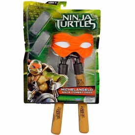 Teenage Mutant Ninja Turtles TMNT 2014 Movie Basic Roleplay Pack Michelangelo New!