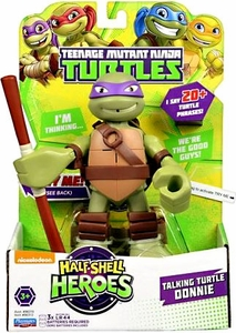Teenage Mutant Ninja Turtles TMNT Half Shell Heroes 6 Inch Action Figure with Sound Donatello New!