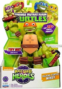 Teenage Mutant Ninja Turtles TMNT Half Shell Heroes 6 Inch Action Figure with Sound Michelangelo New!