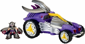 Teenage Mutant Ninja Turtles TMNT Half Shell Heroes Deluxe Vehicle & Action Figure Shredder Mobile with Shredder New!