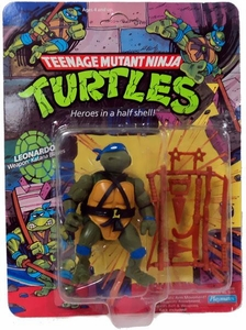 Teenage Mutant Ninja Turtles Vintage Playmates Action Figure Leonardo [10 Back]