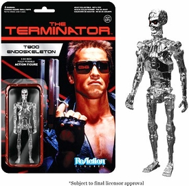 Terminator Funko 3.75 Inch ReAction Figure T-800 Endoskeleton [Chrome] Pre-Order ships August