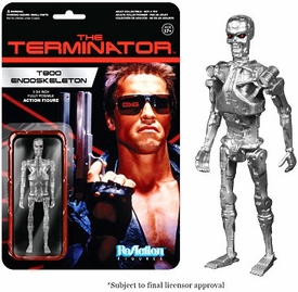 Terminator Funko 3.75 Inch ReAction Figure T-800 Endoskeleton Pre-Order ships July