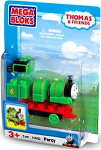 Thomas & Friends Mega Bloks Set #10502 Percy Damaged Package, Mint Contents!