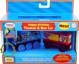 Thomas the Tank Train & Friends Wooden Railway Figure Happy Birthday Thomas & Box Car