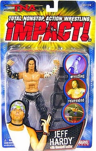 TNA Wrestling Series 2 Action Figure Jeff Hardy with Black & White Sleeves