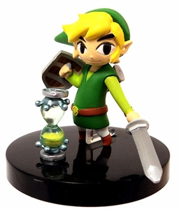 Tomy Gacha Legend of Zelda Phantom Hourglass 2 Inch PVC Figure Link & Phantom Hourglass