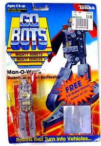 Tonka Go Bots Vintage Action Figure Man-O-War [1985]