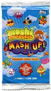 Topps Moshi Monsters Trading Card Game US VERSION Mash Up! Booster Pack [7 Cards & 1 Code]