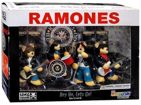 Toxic Teddies Ramones Hey Ho, Lets Go! Damaged Package, Mint Contents!