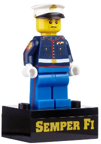 ToyWiz Citizen Brick Exclusive Minifigure Limited Edition USMC Dres Blues