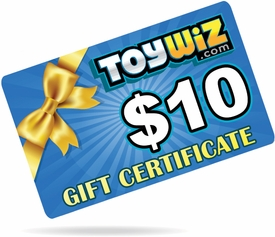 ToyWiz.com $10 Gift Certificate
